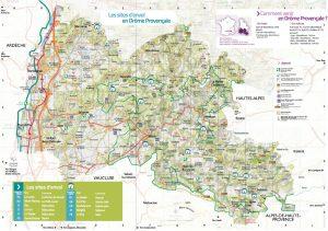 Carte parapente Drôme Provençale