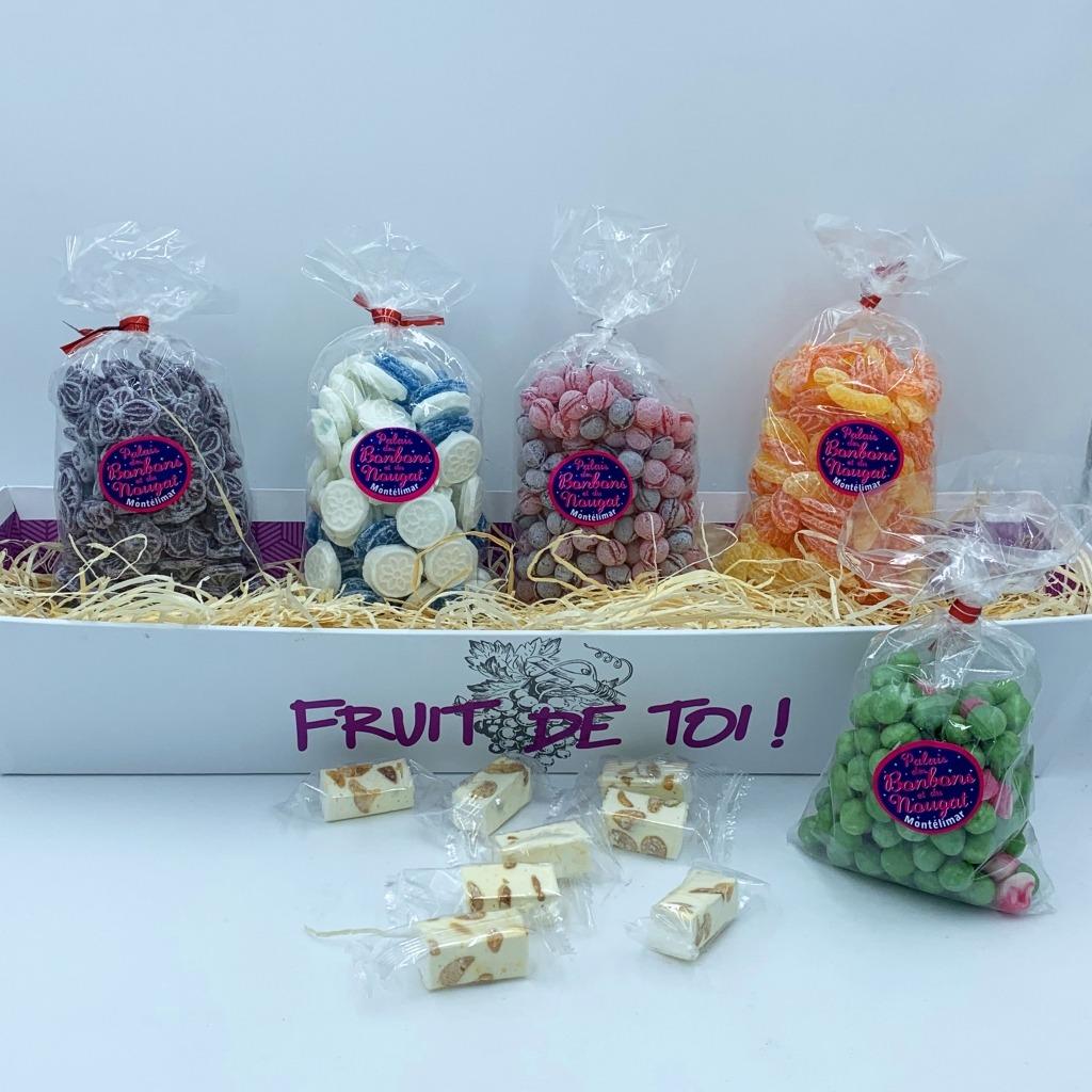 Pour Constant - Papi éternel gourmand un coffret bonbons de notre enfance Made By le Palais des bonbons et du nougat