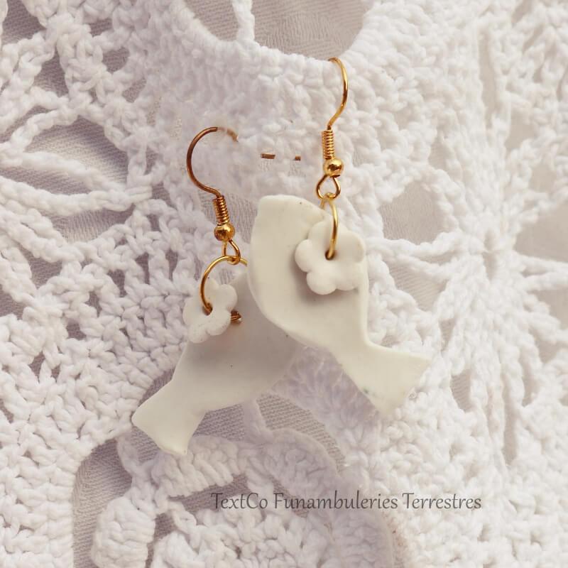 Pour Annabelle - Mamie romantique des bijoux en céramique Made By les Funambuleries Terrestres