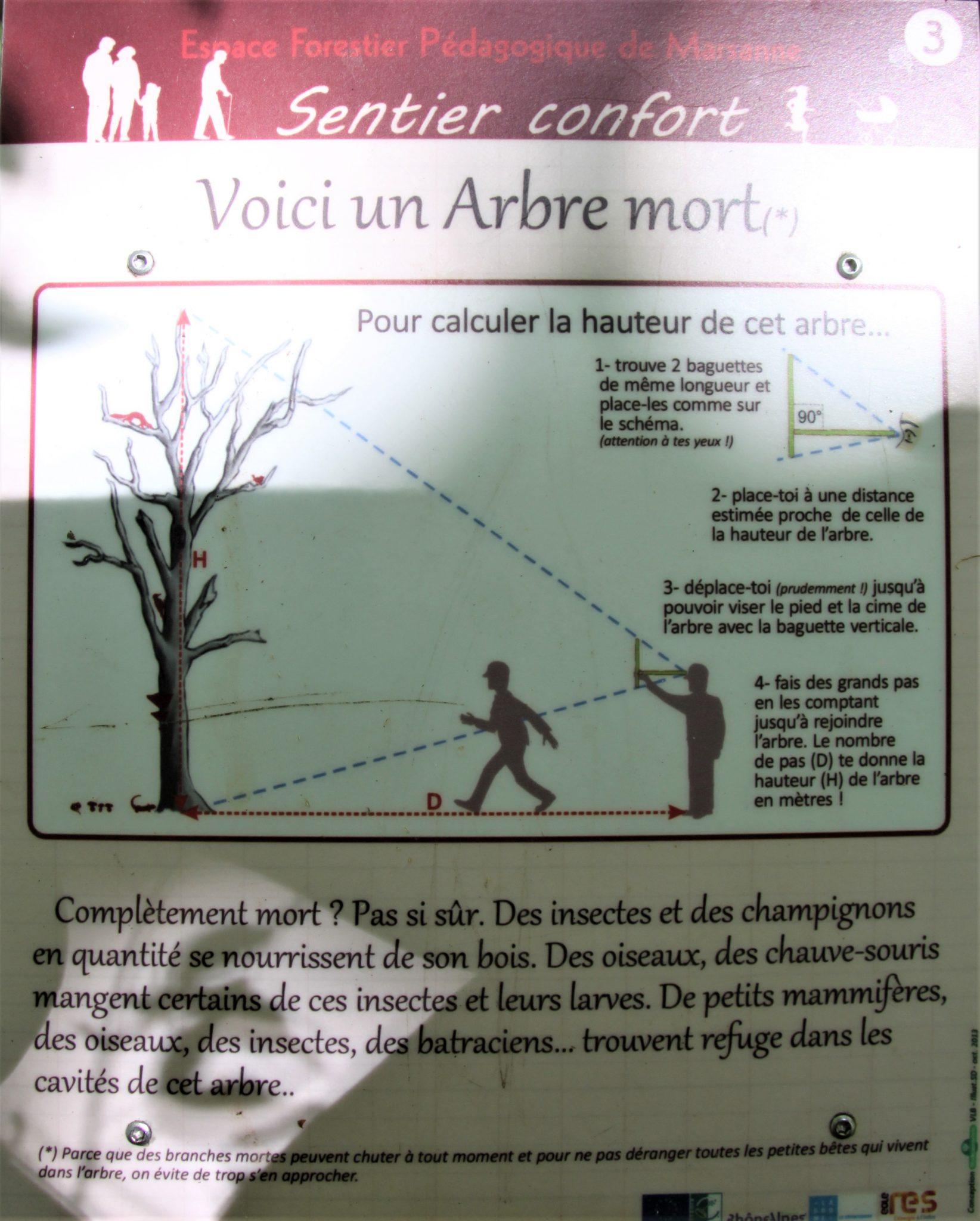 Pancarte sur le sentier pédagogique - Forêt de Marsanne ©SScorbiac