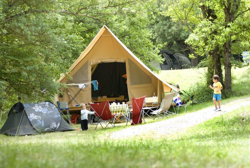 Tentes Trappeurs à la Ferme de Clareau à La Motte-Chalancon - 0