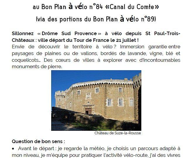 Proposition liaison au Bon Plan à vélo n°84 à Saint-Paul-Trois-Châteaux - 0