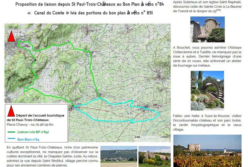 Proposition liaison au Bon Plan à vélo n°84 à Saint-Paul-Trois-Châteaux - 1