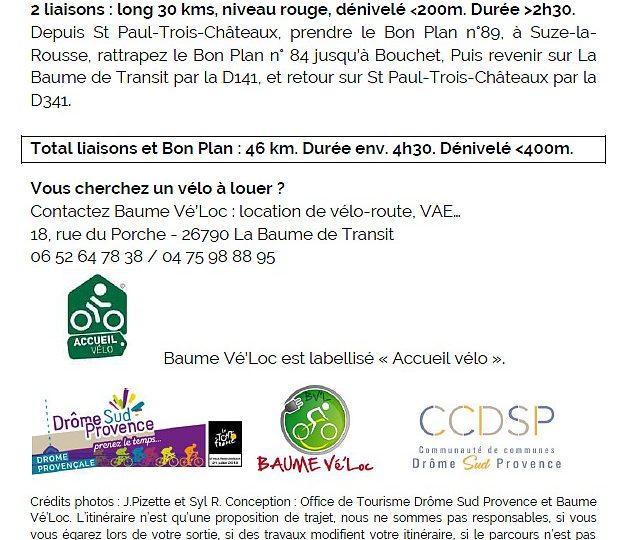 Proposition liaison au Bon Plan à vélo n°84 à Saint-Paul-Trois-Châteaux - 2