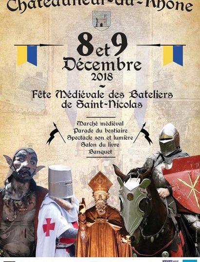 Fête médiévale des Bateliers et de St-Nicolas à Châteauneuf-du-Rhône - 0