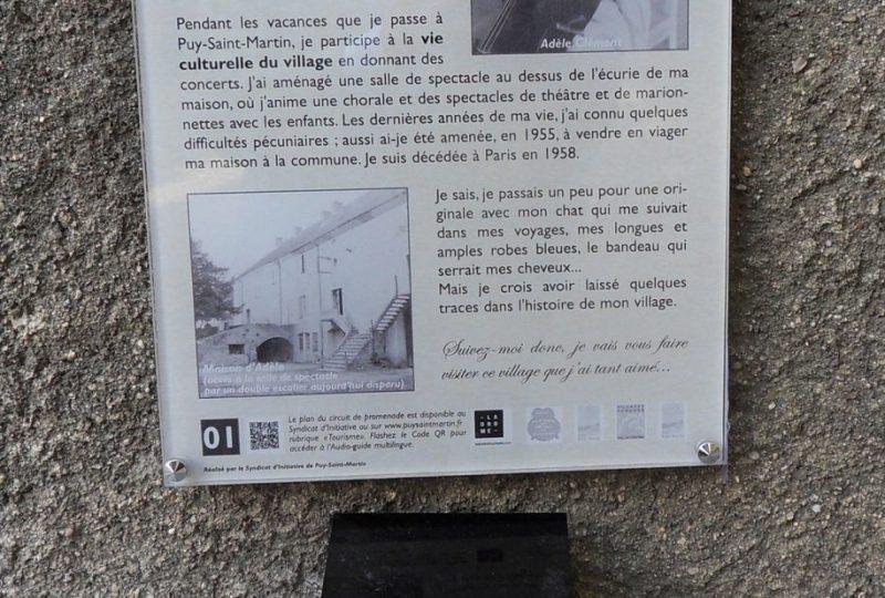 Sur les pas d'Adèle à Puy-Saint-Martin - 1