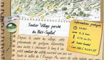 Sentier village perché du Poët Sigillat