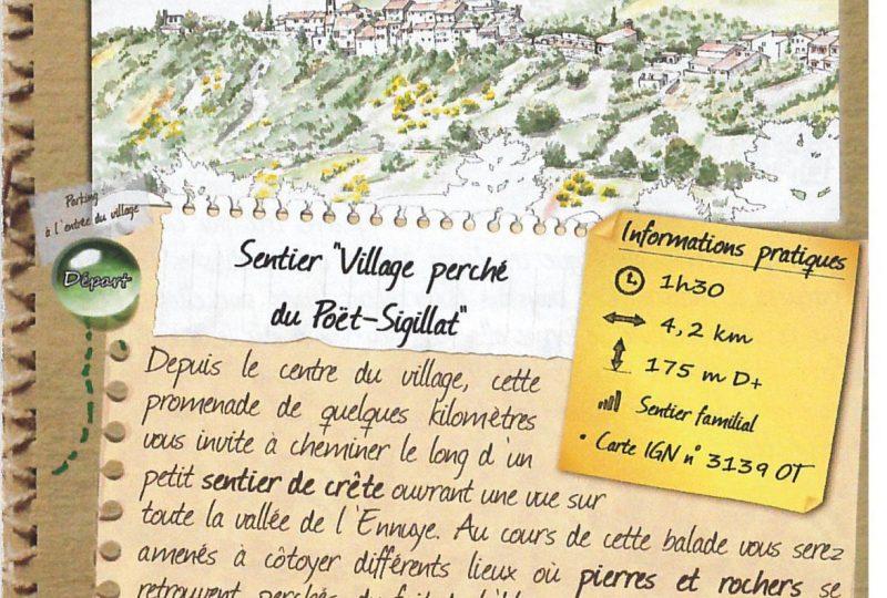 Sentier «Village perché du Poët-Sigillat» à Le Poët-Sigillat - 0