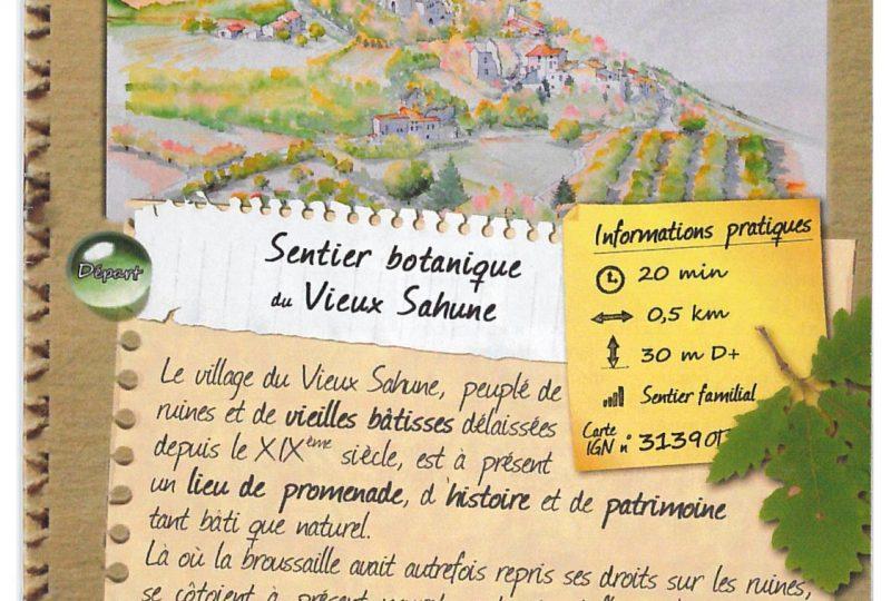Sentier botanique du Vieux Sahune à Sahune - 0