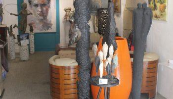 Galerie S H –  Sculptures de S. Hustin – Visage E Javiol