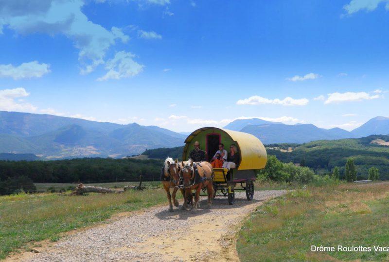 Une semaine de bohème en roulotte tirée par des chevaux à Le Poët-Célard - 2